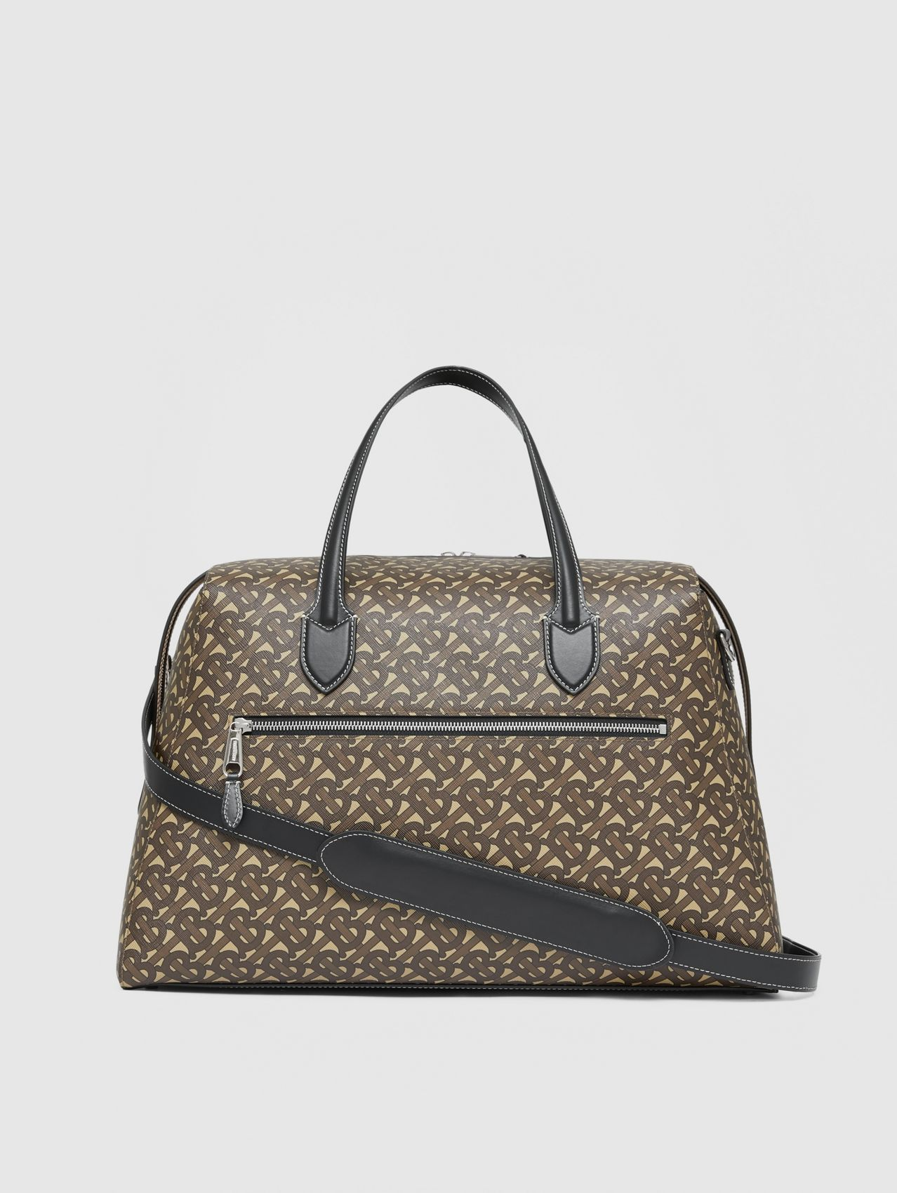 Monogram Print E-canvas Holdall in Bridle Brown