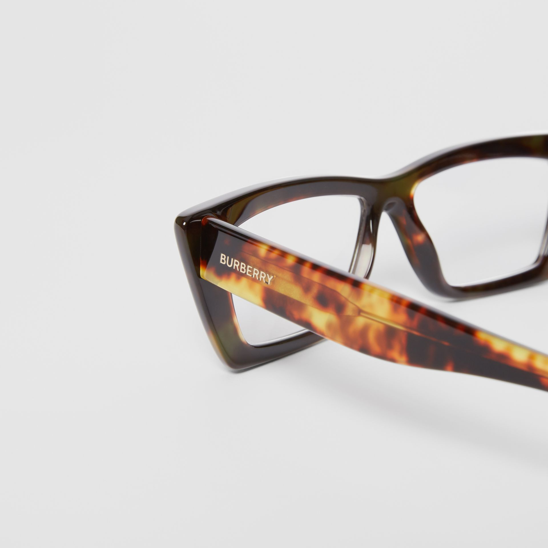 Rectangular Optical Frames in Tortoiseshell - Women | Burberry - gallery image 1
