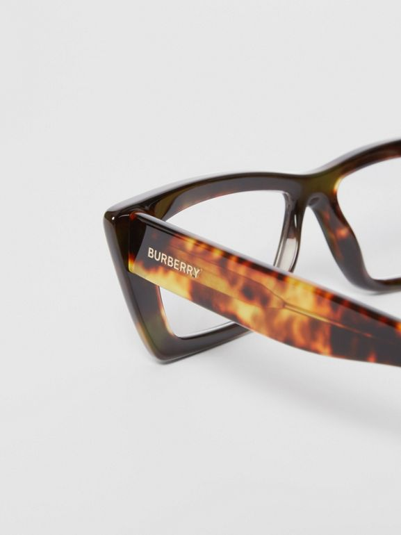 Rectangular Optical Frames in Tortoiseshell - Women | Burberry - cell image 1