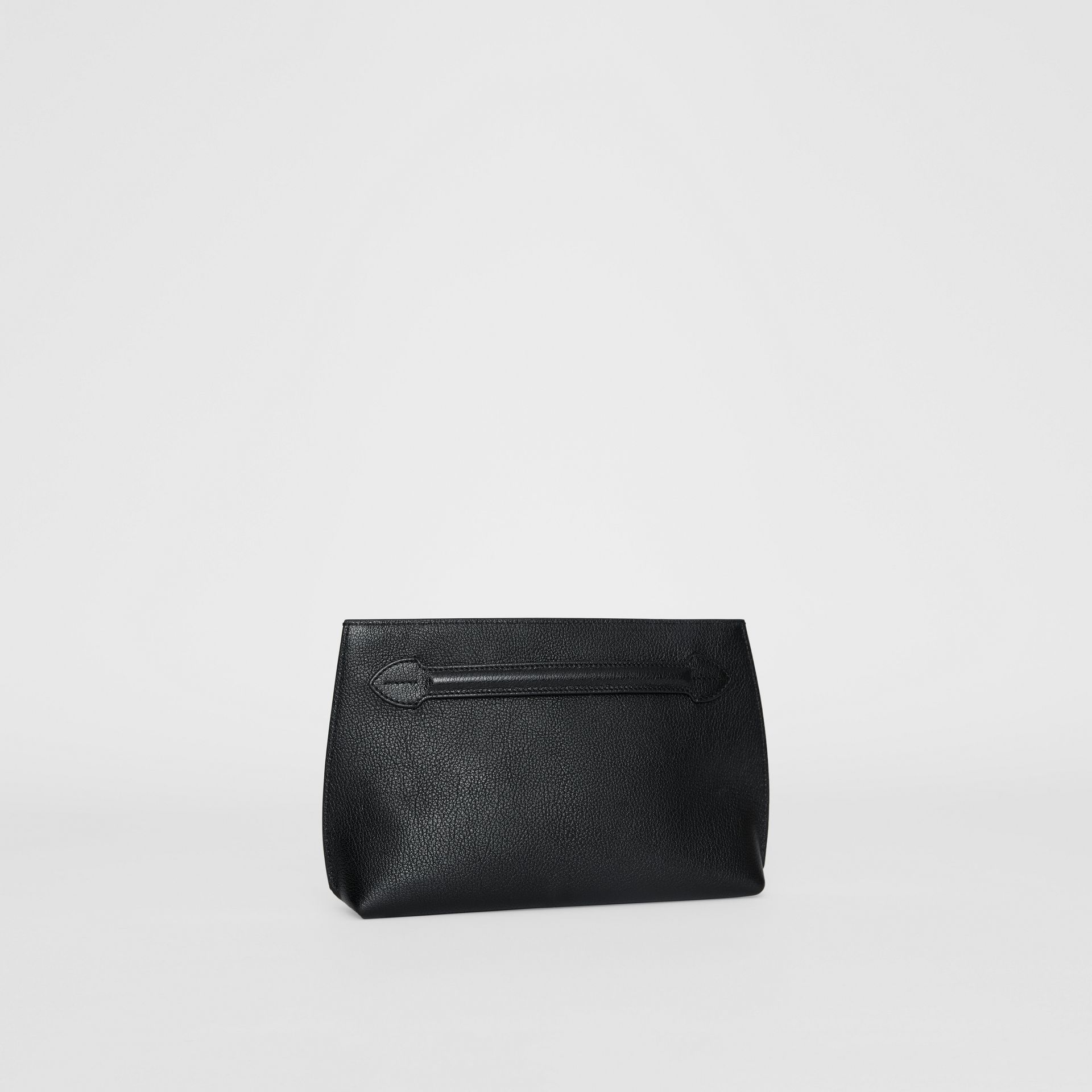 Grainy Leather Wristlet Clutch in Black - Women | Burberry - gallery image 6