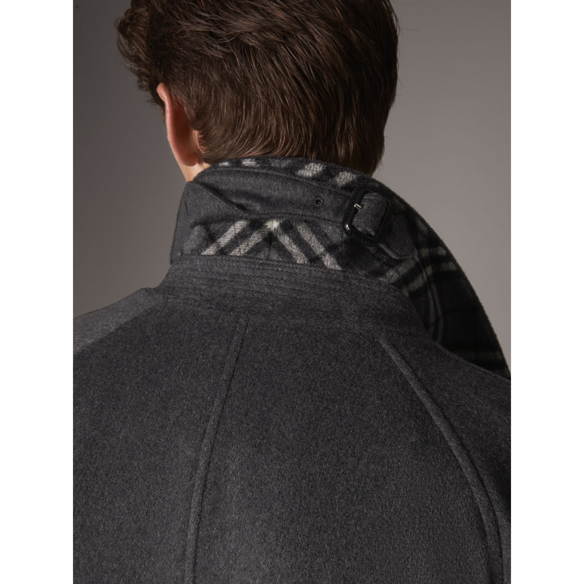 Cashmere Car Coat in Pewter Melange - Men | Burberry United States - gallery image 1