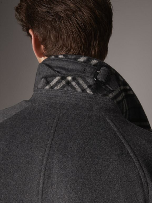 Cashmere Car Coat in Pewter Melange - Men | Burberry United States - cell image 1