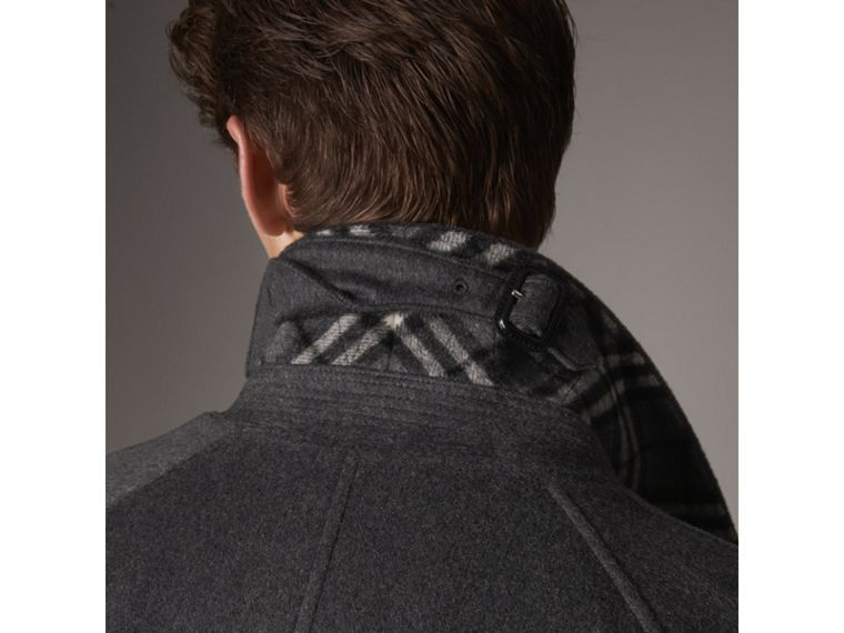 Cappotto car coat in cashmere (Peltro Mélange) - Uomo | Burberry - cell image 1