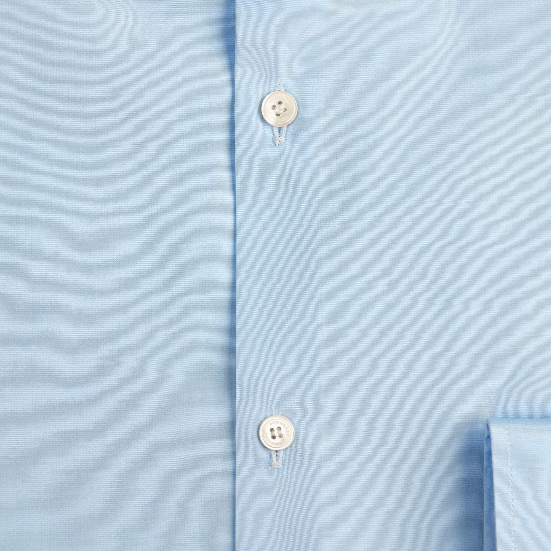 Slim Fit Cotton Poplin Shirt in City Blue - gallery image 2