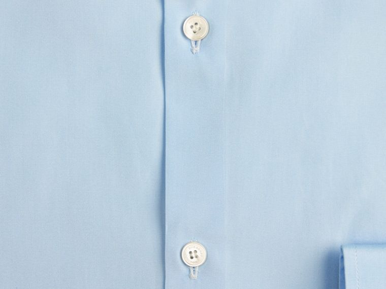 Slim Fit Cotton Poplin Shirt in City Blue - Men | Burberry Singapore - cell image 1