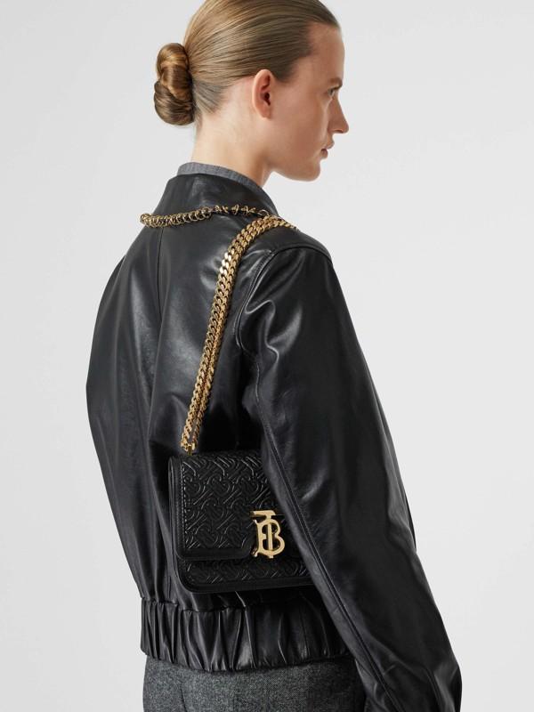 Bolsa TB de couro de cordeiro com monograma - Pequena (Preto) - Mulheres | Burberry - cell image 2