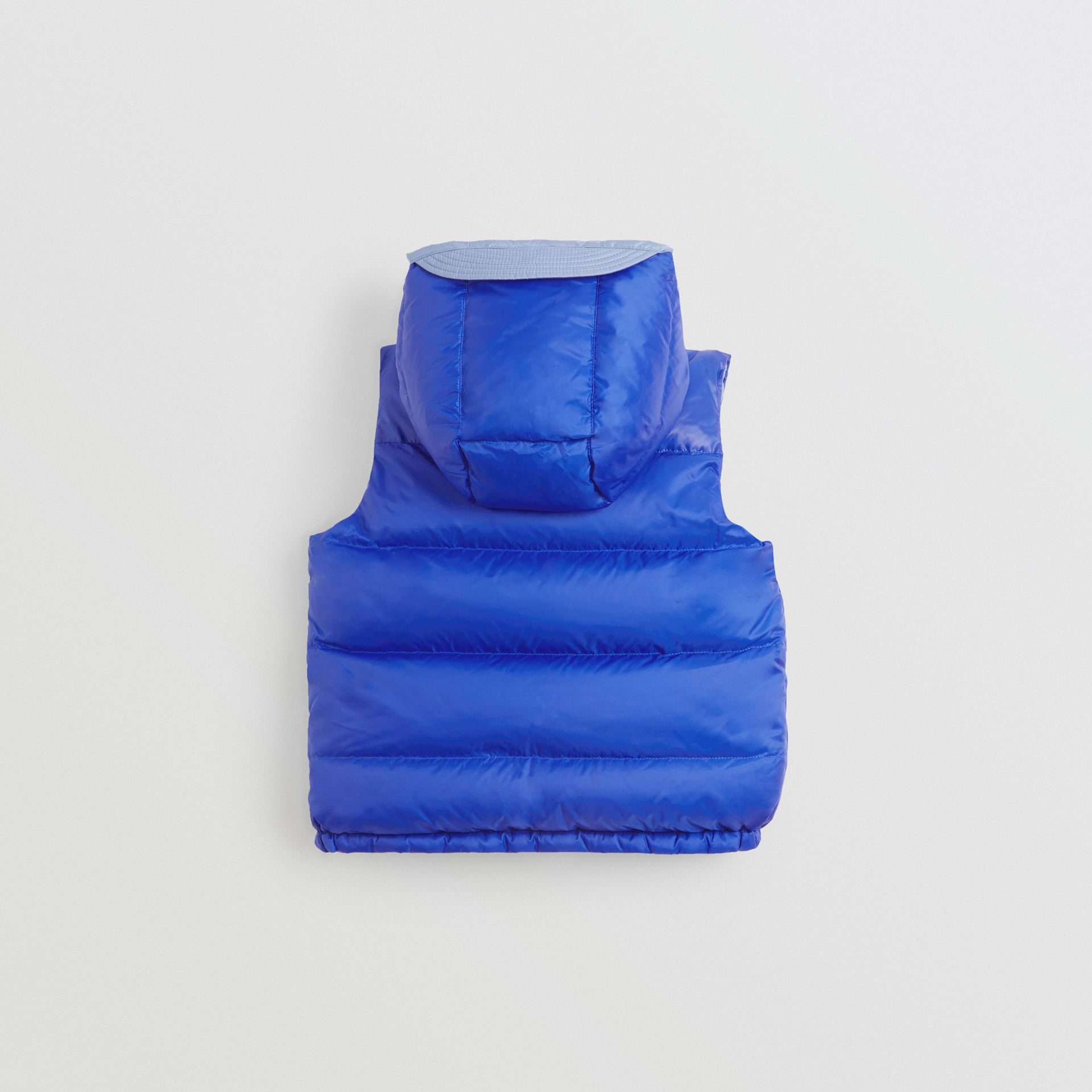 Reversible Showerproof Down-filled Hooded Gilet in Bright Spectrum Blue | Burberry - gallery image 4