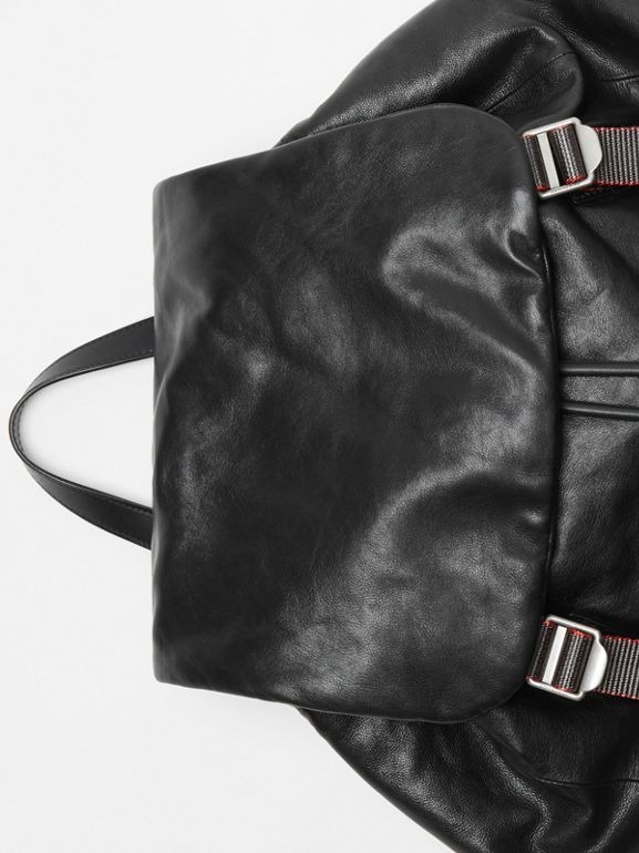 The Extra Large Rucksack in Nappa Leather in Black - Men | Burberry United States - cell image 1