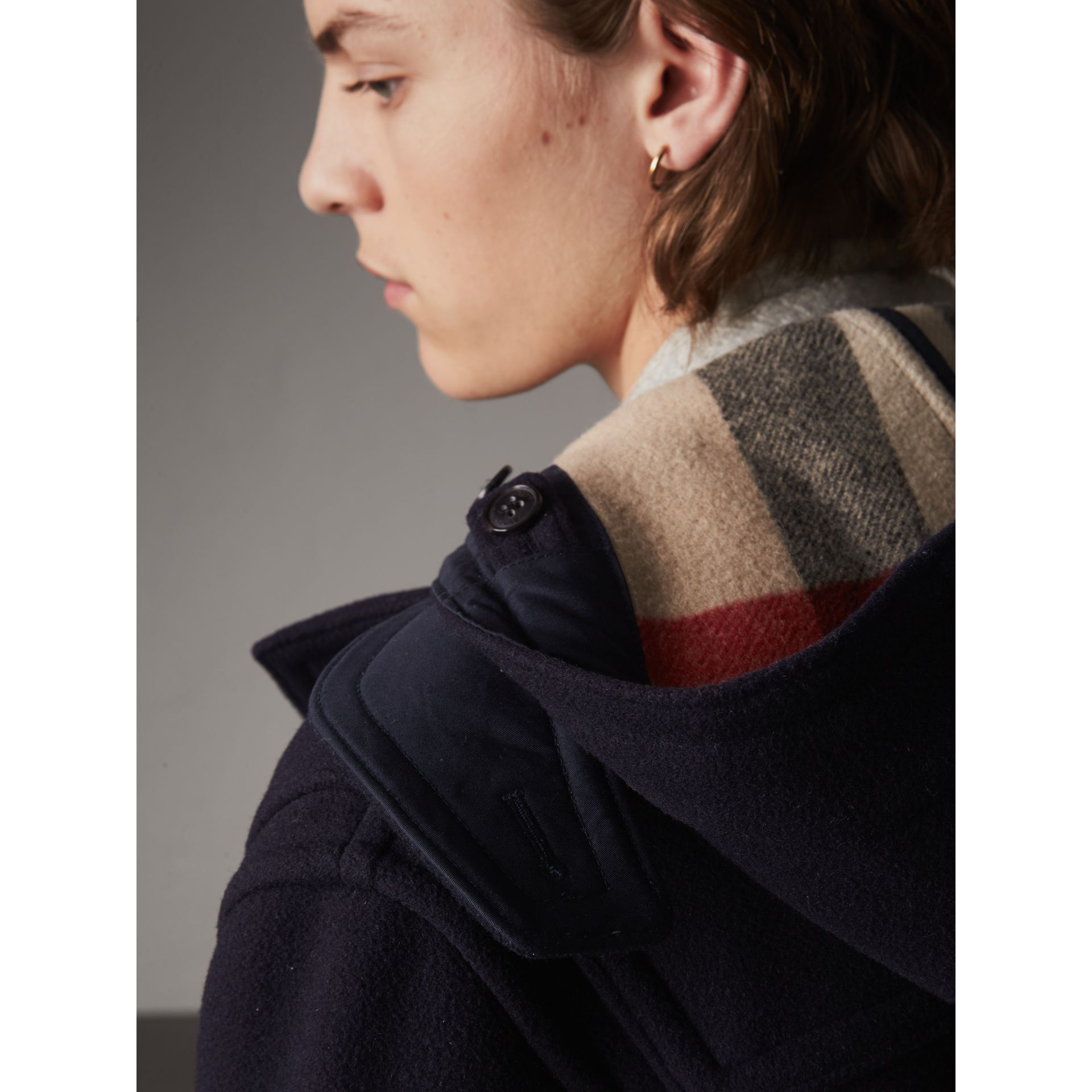 Wool-Blend Duffle Coat in Navy - Men | Burberry - gallery image 5