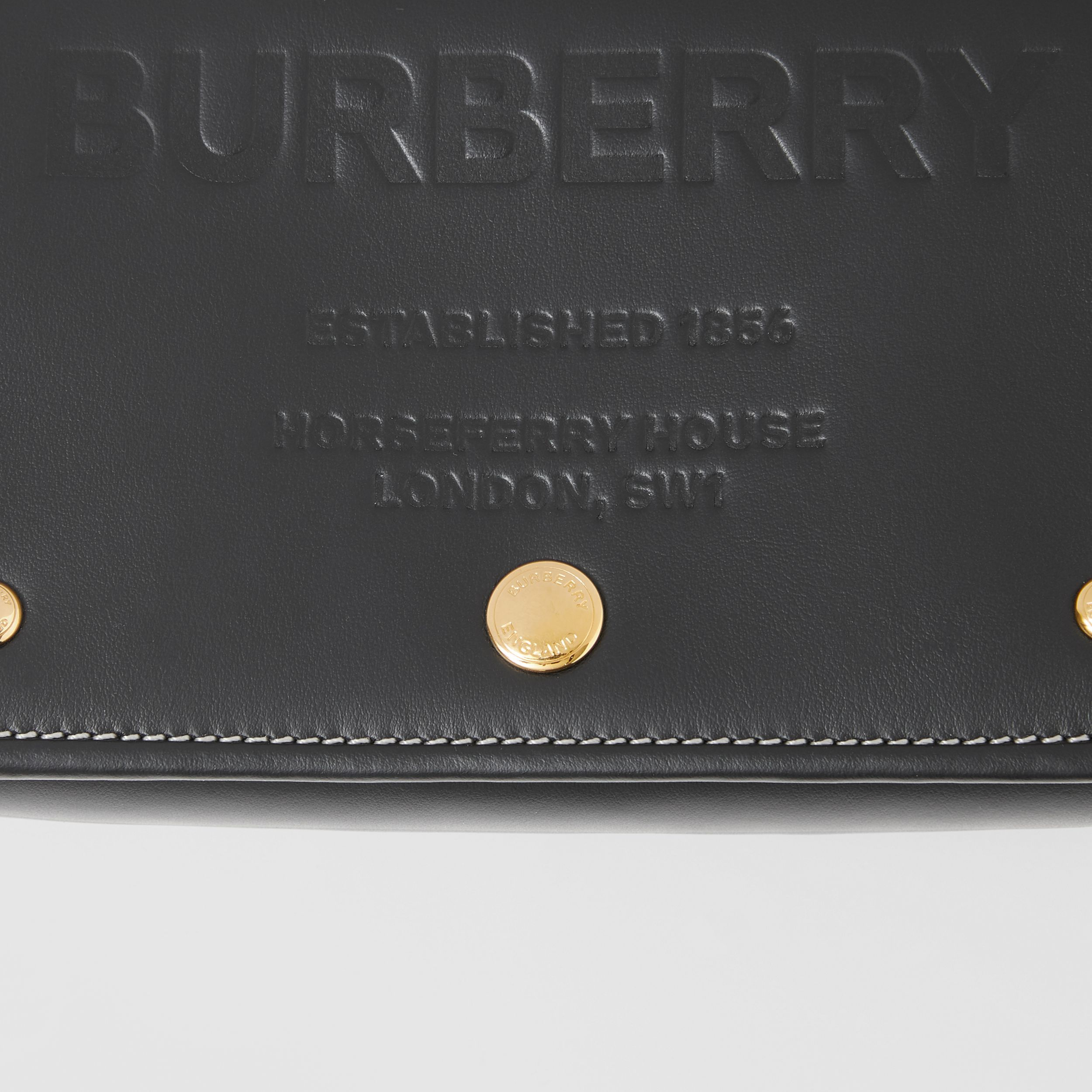 Small Horseferry Leather Crossbody Bag in Black | Burberry Canada - 2
