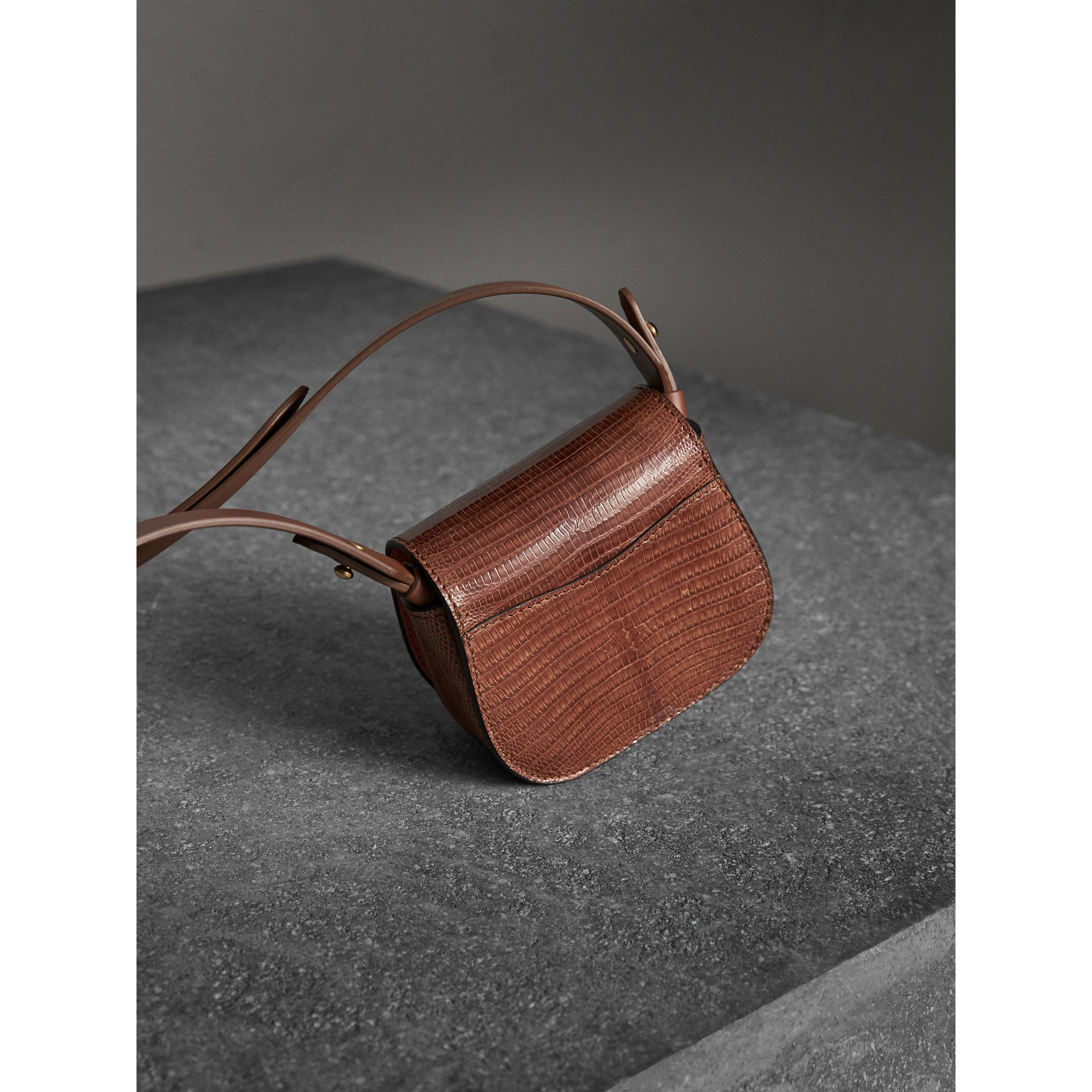The Pocket Satchel in Lizard in Chestnut Brown - Women | Burberry Singapore - gallery image 3