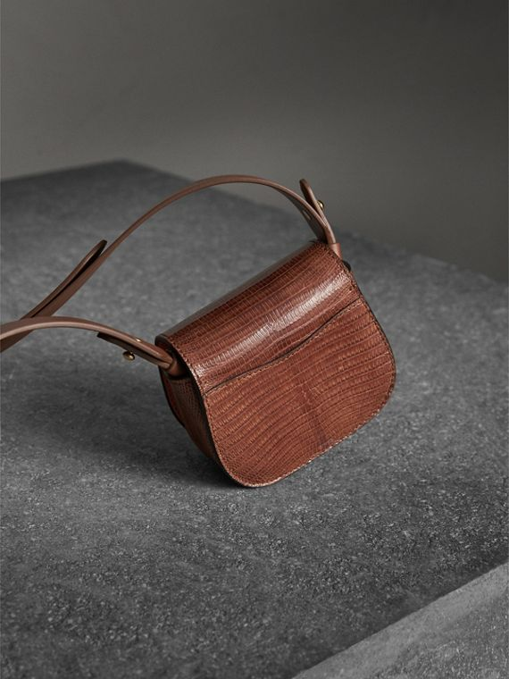 The Pocket Satchel in Lizard in Chestnut Brown - Women | Burberry Singapore - cell image 3