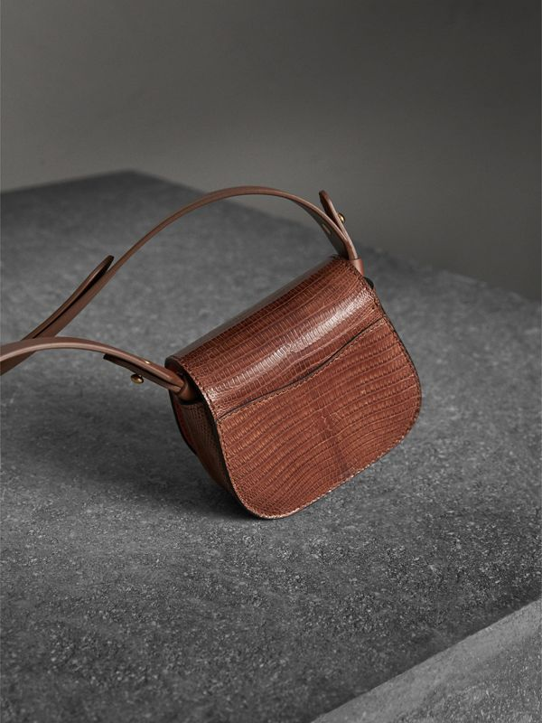 The Pocket Satchel in Lizard in Chestnut Brown - Women | Burberry - cell image 3