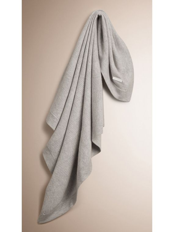Check Cashmere Baby Blanket