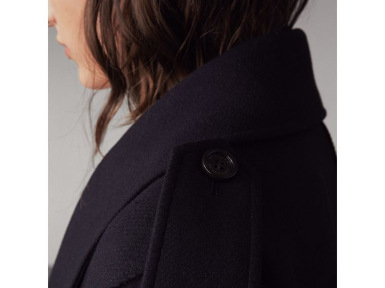 Wool Cashmere Blend Military Cape in True Navy - Women | Burberry United Kingdom - cell image 1