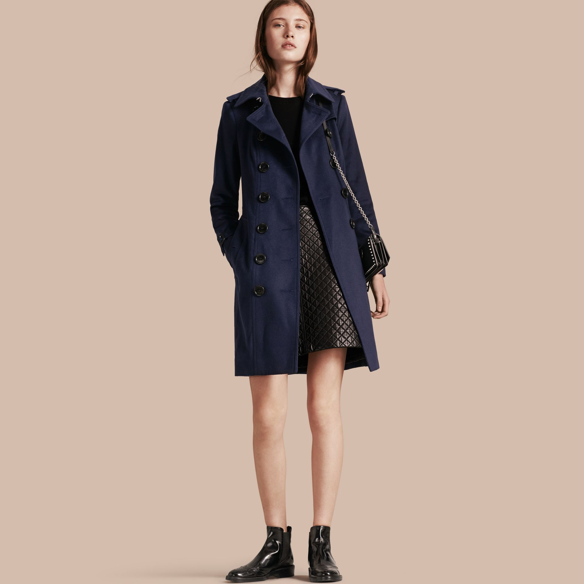 Empire blue Sandringham Fit Cashmere Trench Coat Empire Blue - gallery image 1