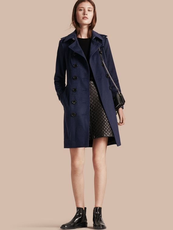 Sandringham Fit Cashmere Trench Coat Empire Blue