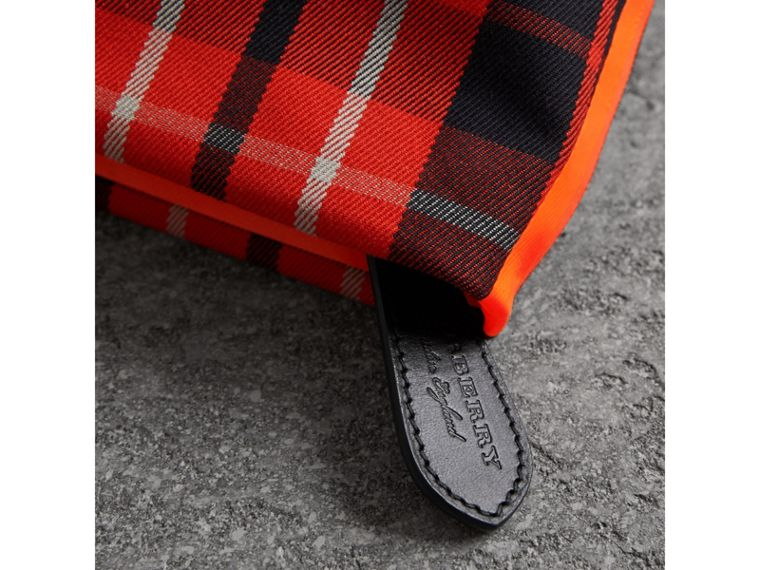 Tartan Cotton Clutch in Vibrant Red/flax Yellow | Burberry United Kingdom - cell image 1