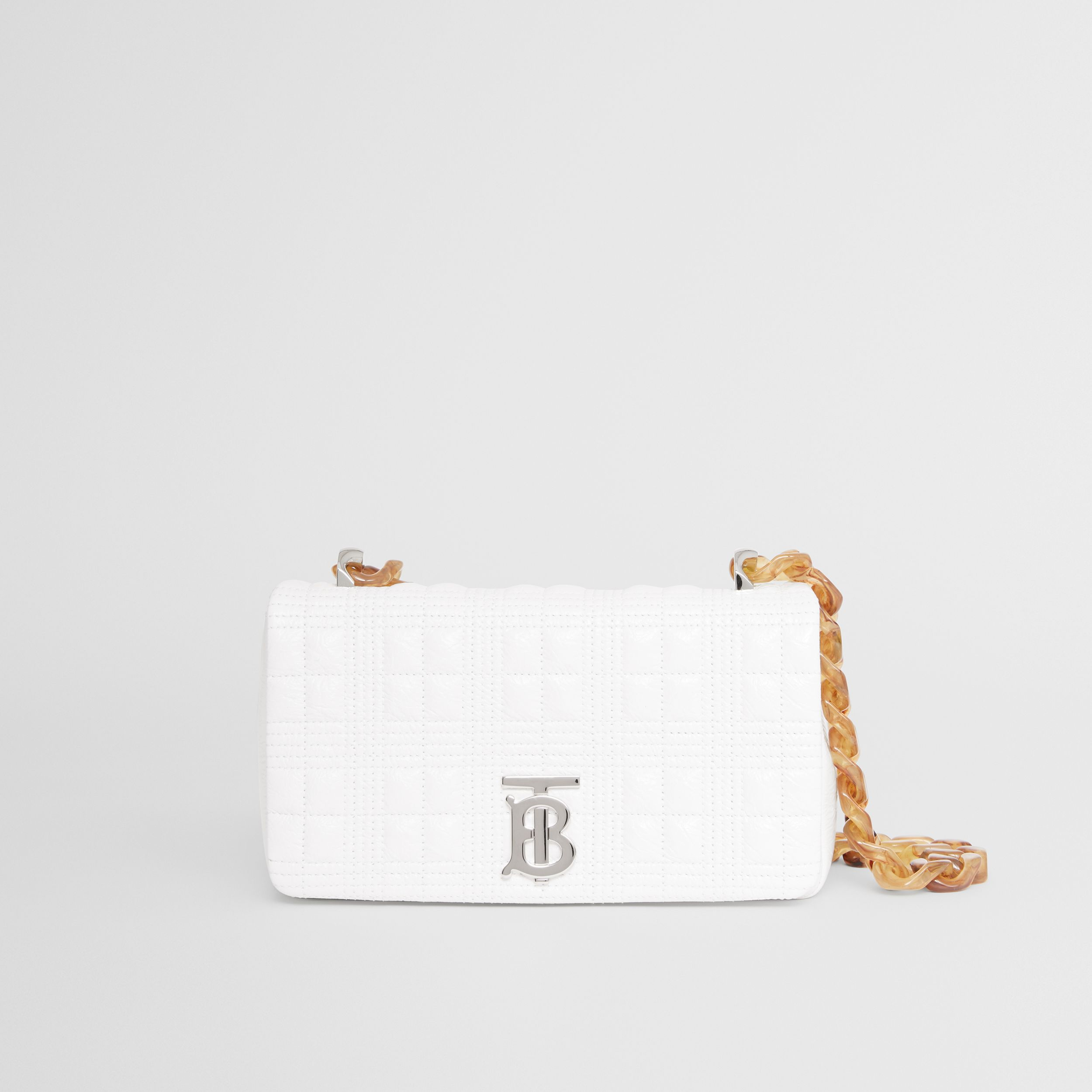 Small Quilted Lambskin Lola Bag in Optic White - Women | Burberry - 4