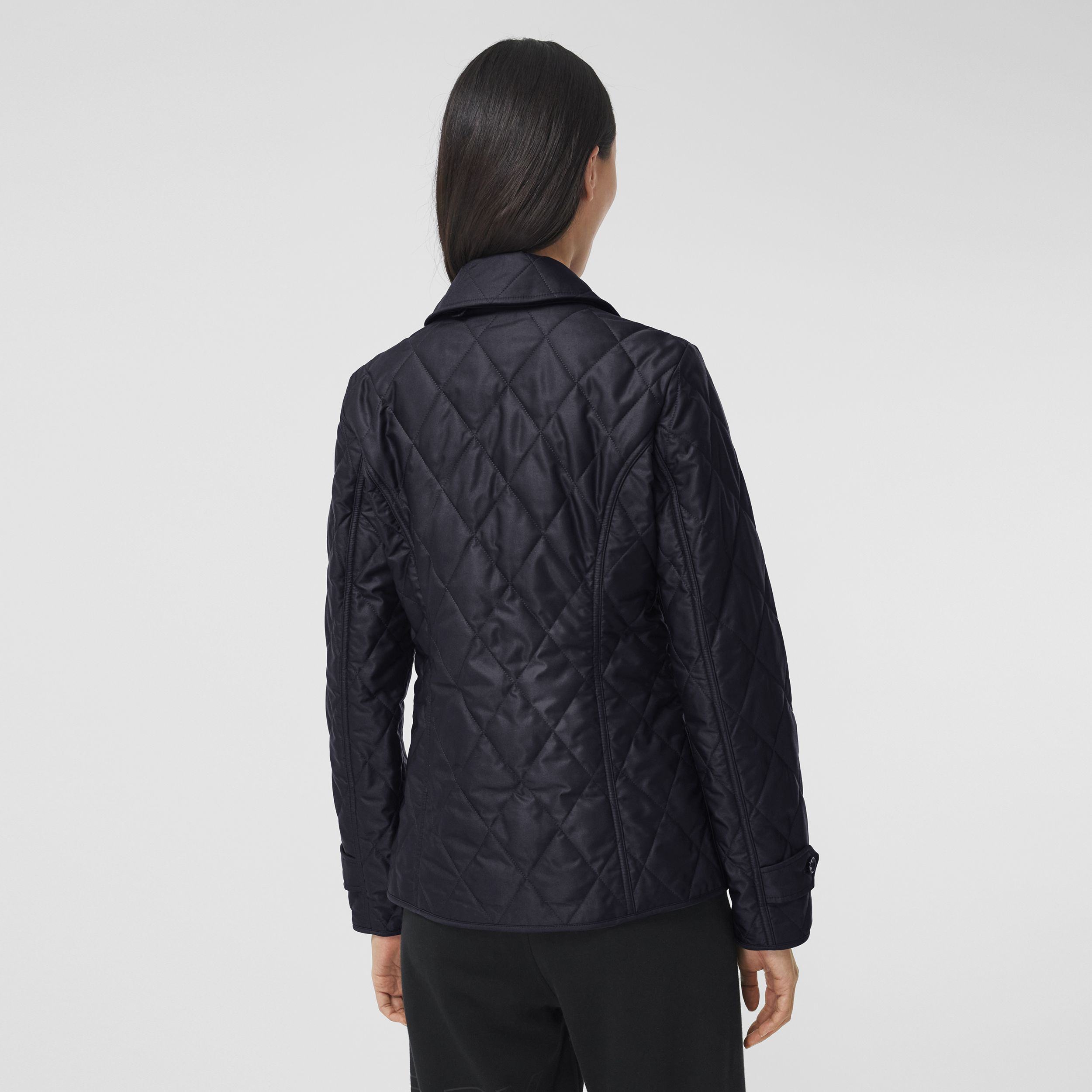 Diamond Quilted Thermoregulated Jacket in Midnight - Women | Burberry - 3