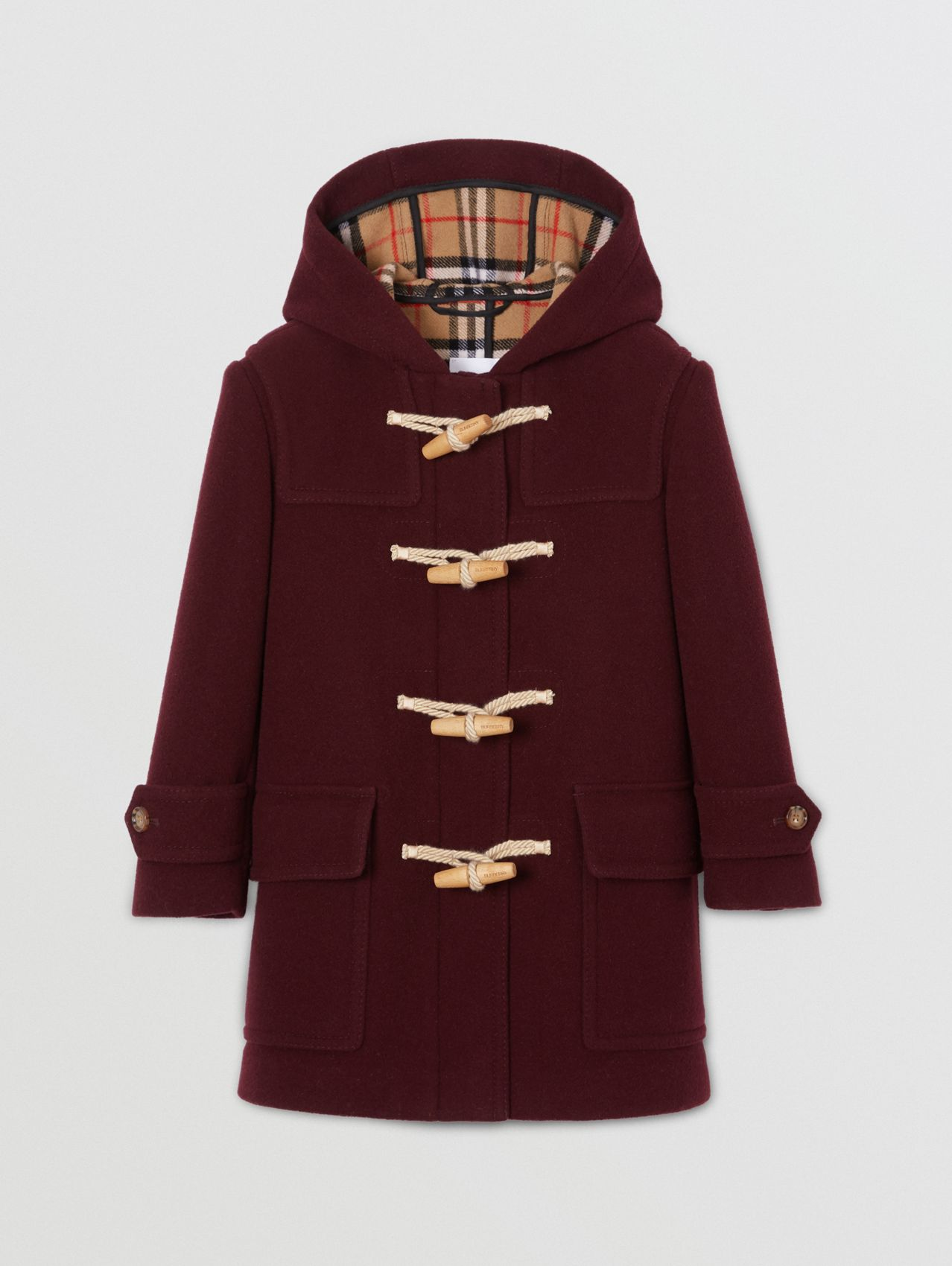 Double-faced Wool Duffle Coat in Burgundy