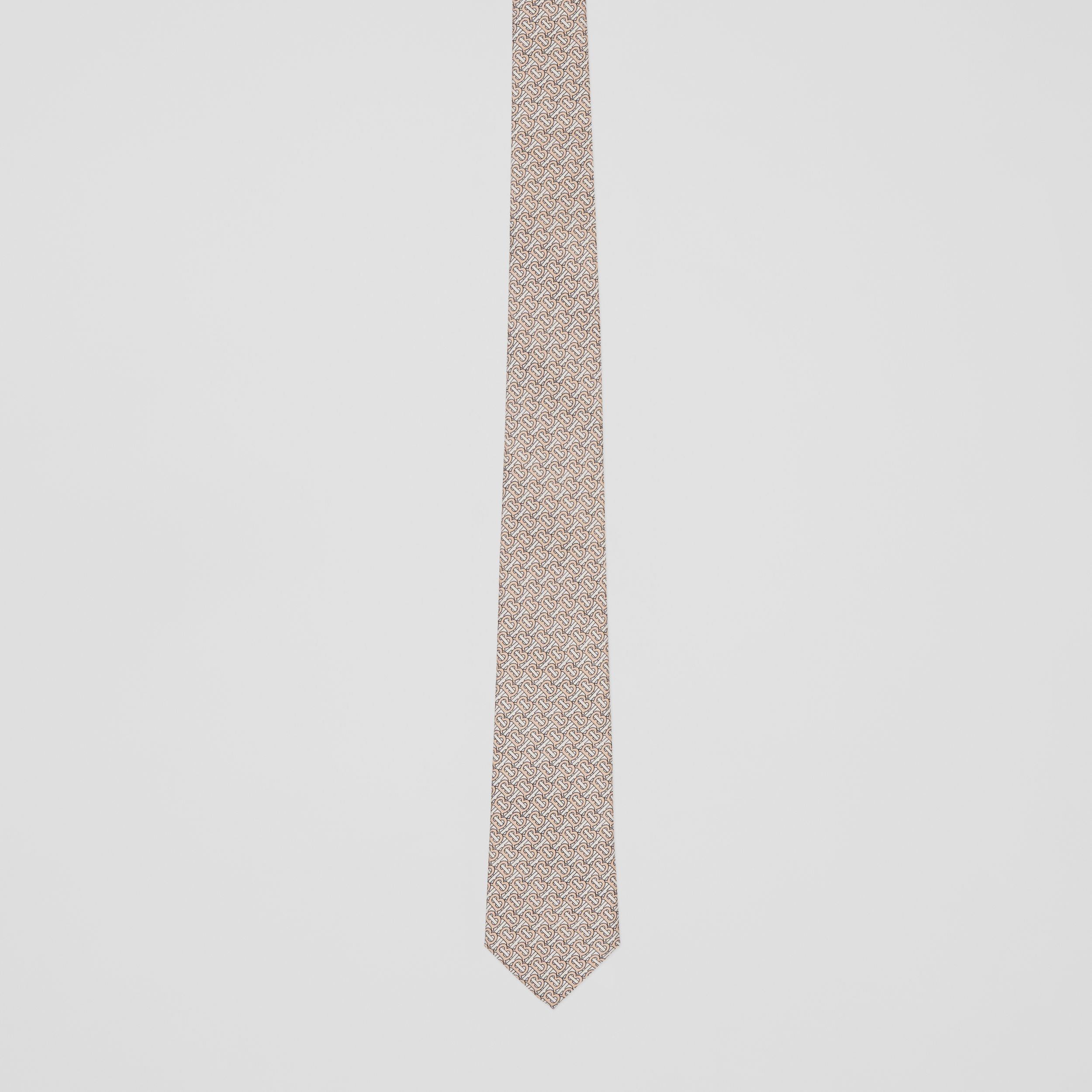 Classic Cut Monogram Silk Jacquard Tie in Blush Pink - Men | Burberry - 4