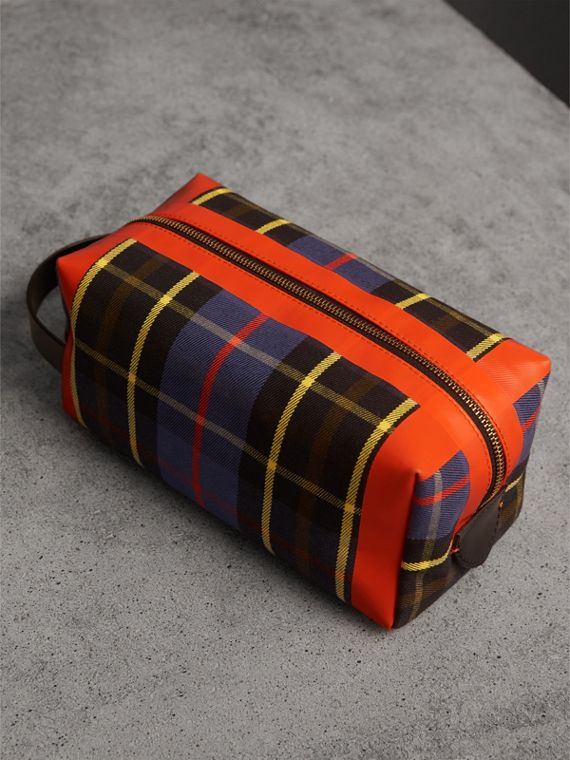 Tartan Cotton Pouch in Cobalt | Burberry Canada - cell image 3
