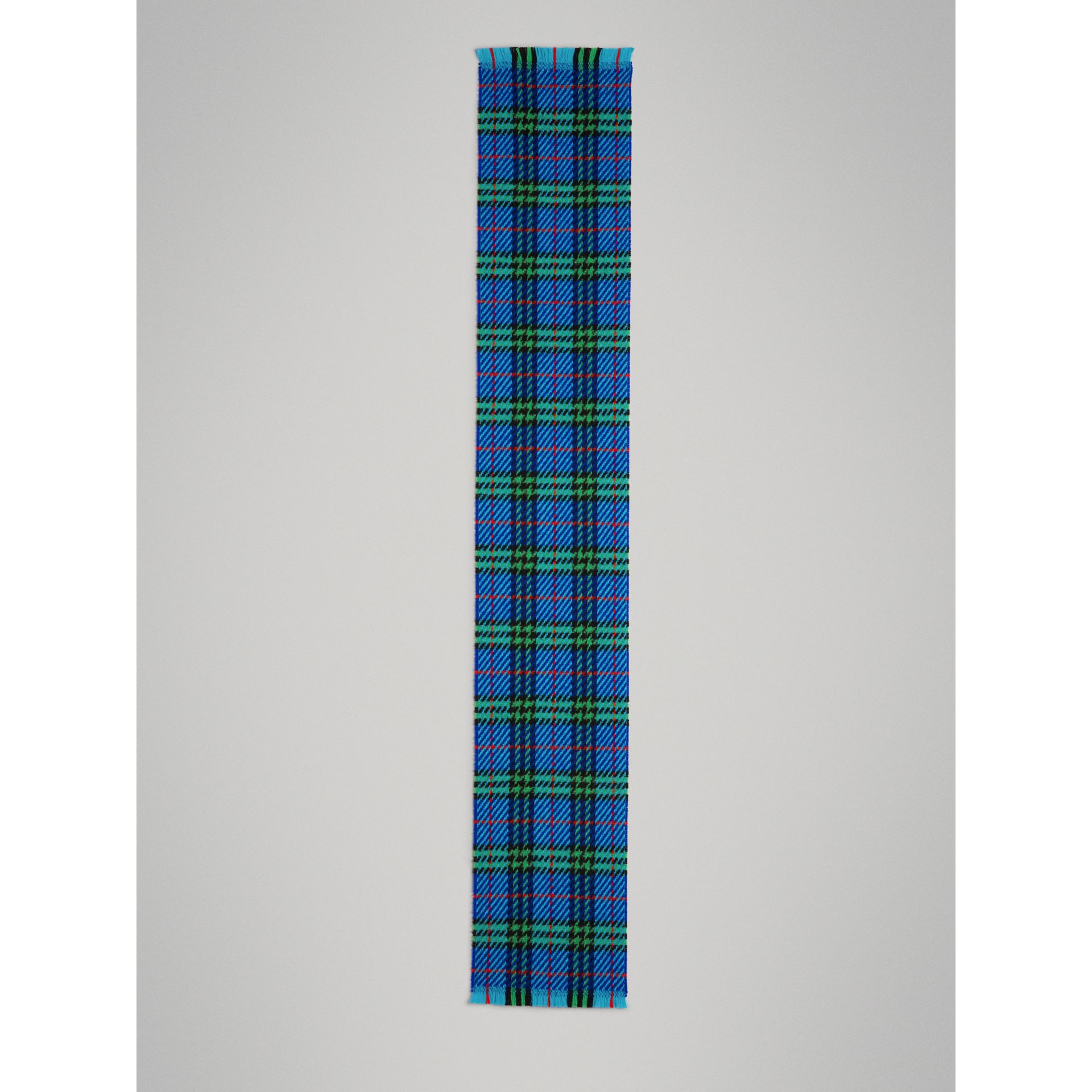 Vintage Check Merino Wool Scarf in Azure Blue | Burberry Singapore - gallery image 2