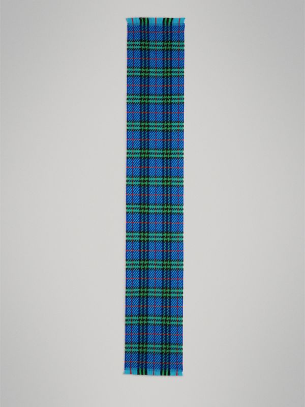 Vintage Check Merino Wool Scarf in Azure Blue | Burberry Singapore - cell image 2