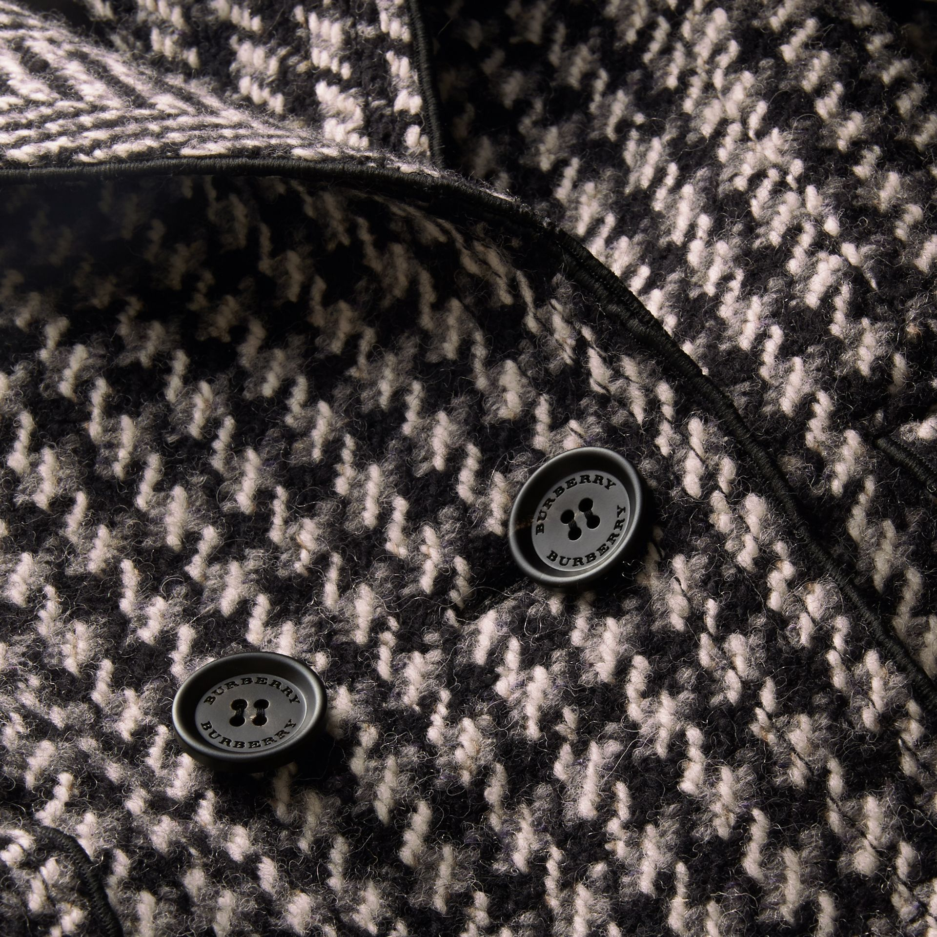 Sculptural Panel Houndstooth Wool A-line Coat - Women | Burberry - gallery image 2