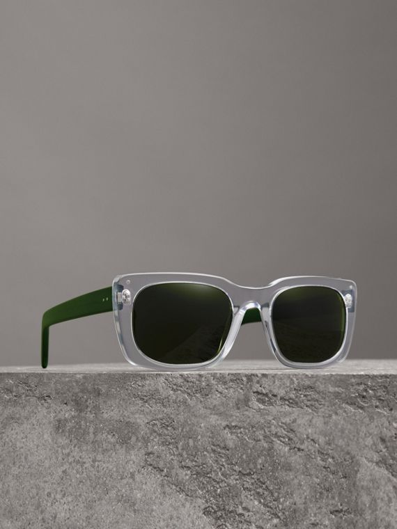Square Frame Sunglasses in Crystal