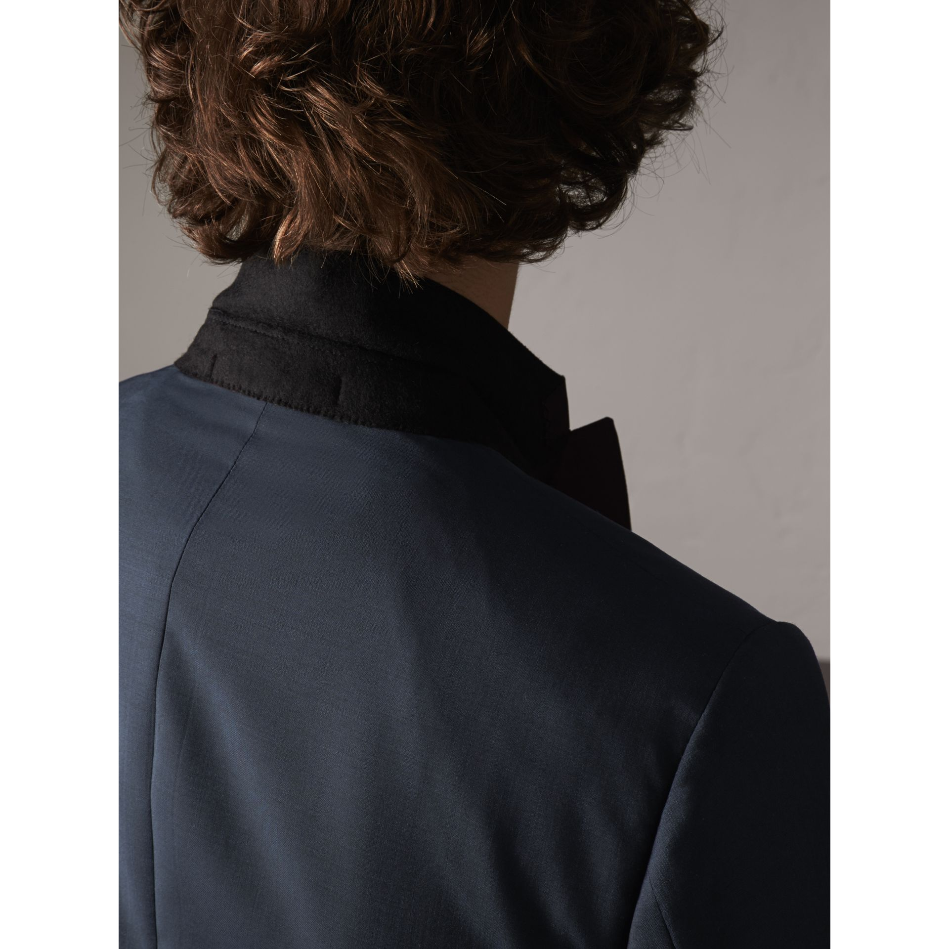 Soho Fit Wool Mohair Suit in Petrol Blue - Men | Burberry - gallery image 10