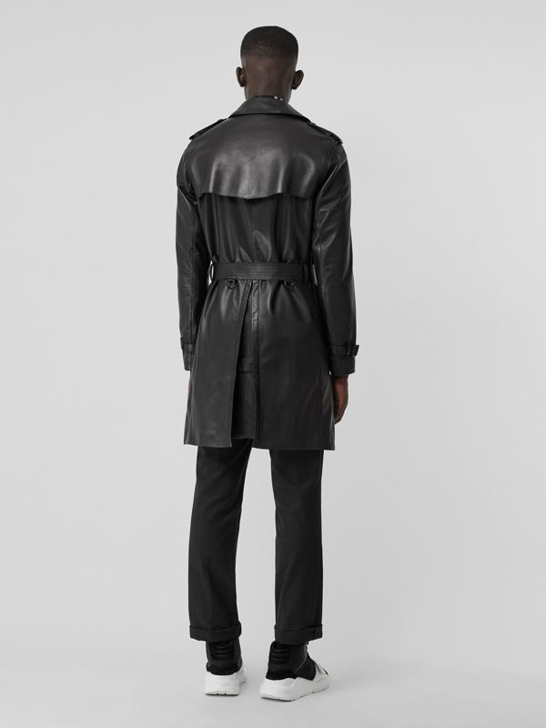 Lambskin Trench Coat in Black - Men | Burberry Hong Kong - cell image 2