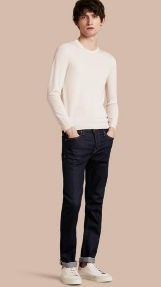Jean de coupe droite en denim selvedge japonais extensible
