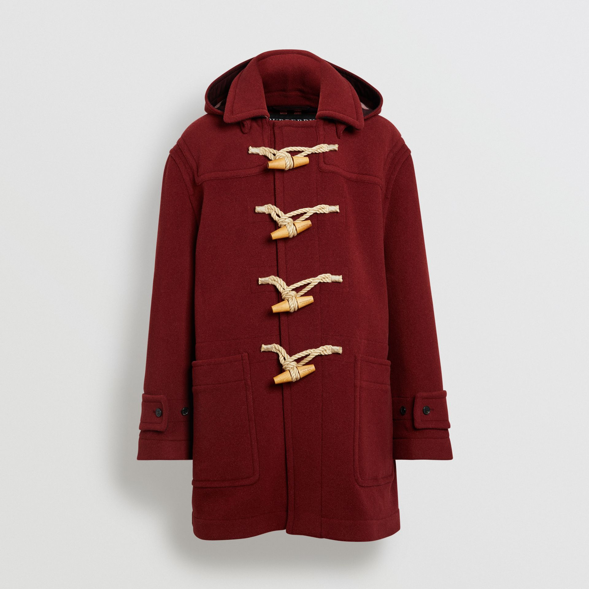 Gosha x Burberry Oversized Duffle Coat in Claret | Burberry - gallery image 3