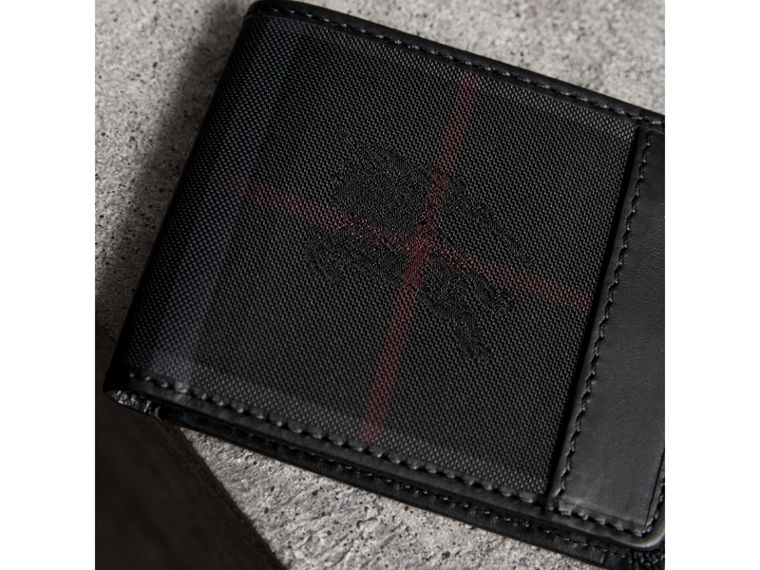 Horseferry Check Wallet in Charcoal/black - Men | Burberry - cell image 1