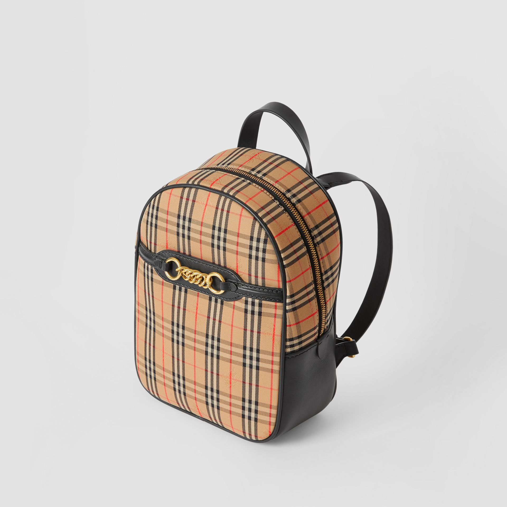 The 1983 Check Link Backpack in Black - Women | Burberry Australia - gallery image 3