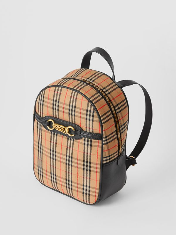 The 1983 Check Link Backpack in Black - Women | Burberry Australia - cell image 3
