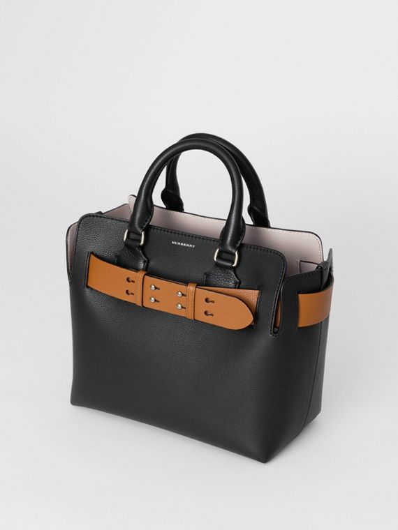 The Small Leather Belt Bag in Black