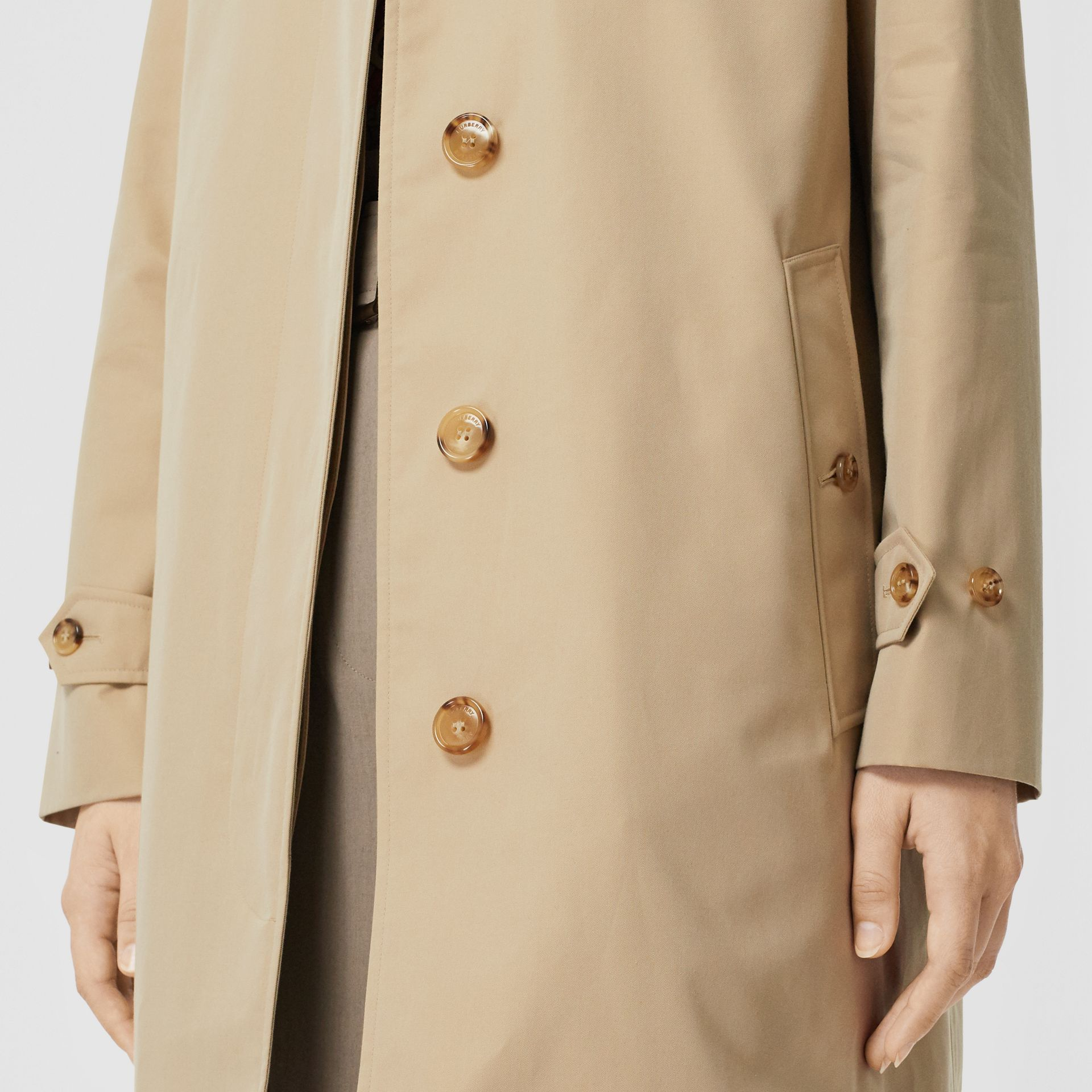 The Pimlico Car Coat in Honey - Women | Burberry - gallery image 4