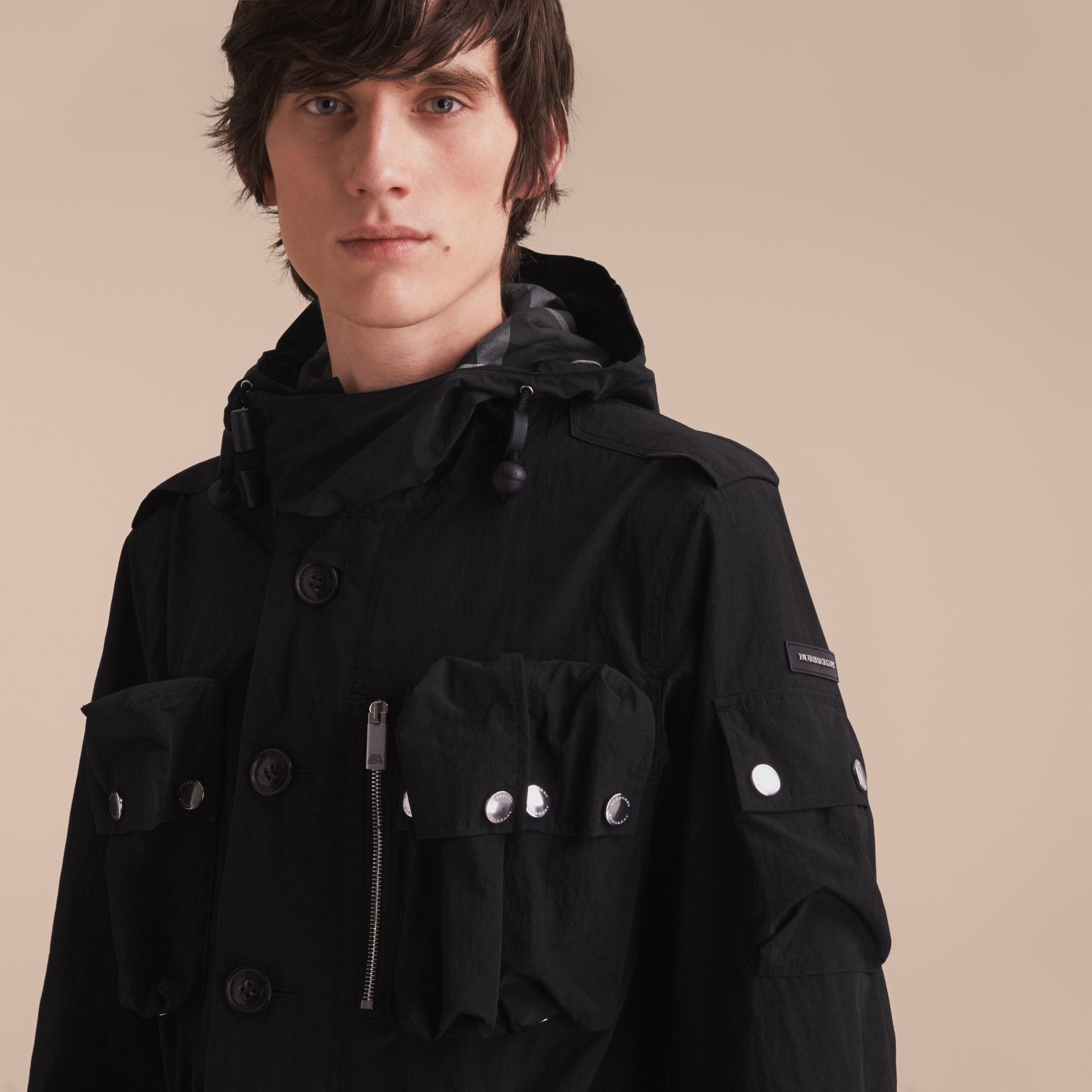 Hooded Technical Field Jacket - gallery image 6