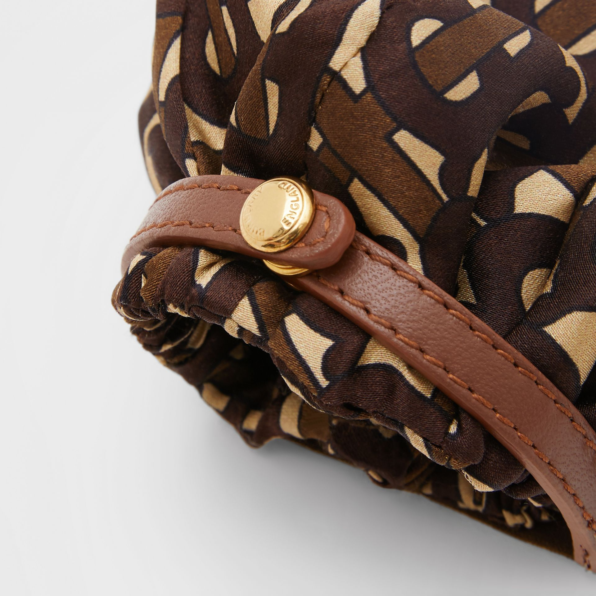 Monogram Print Silk Chignon Cover in Brown - Women | Burberry - gallery image 3