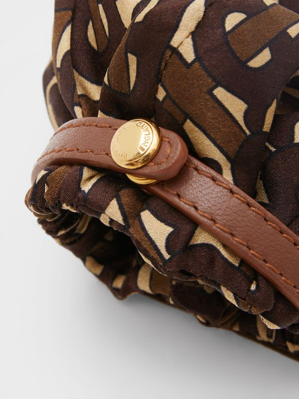 Monogram Print Silk Chignon Cover in Brown - Women | Burberry - cell image 3