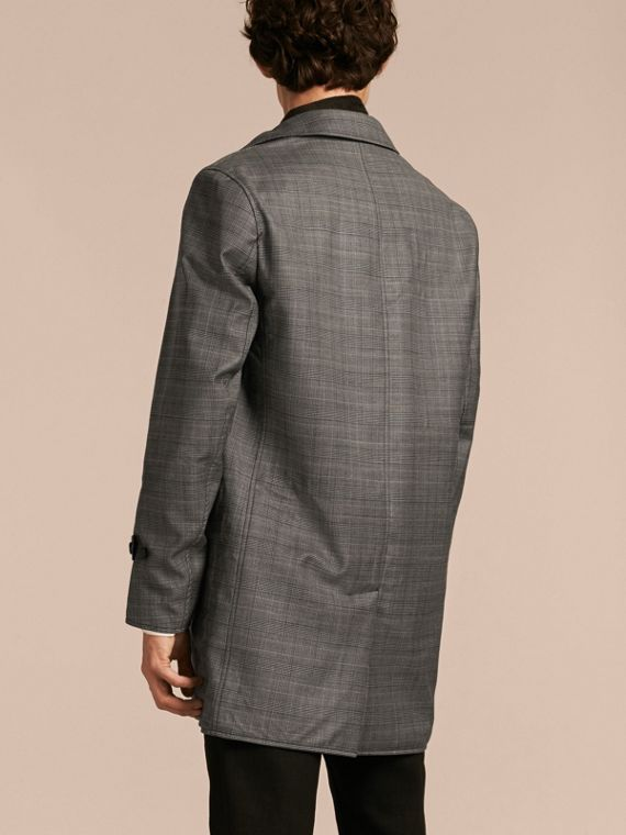 Reversible Prince of Wales Wool Car Coat - cell image 2