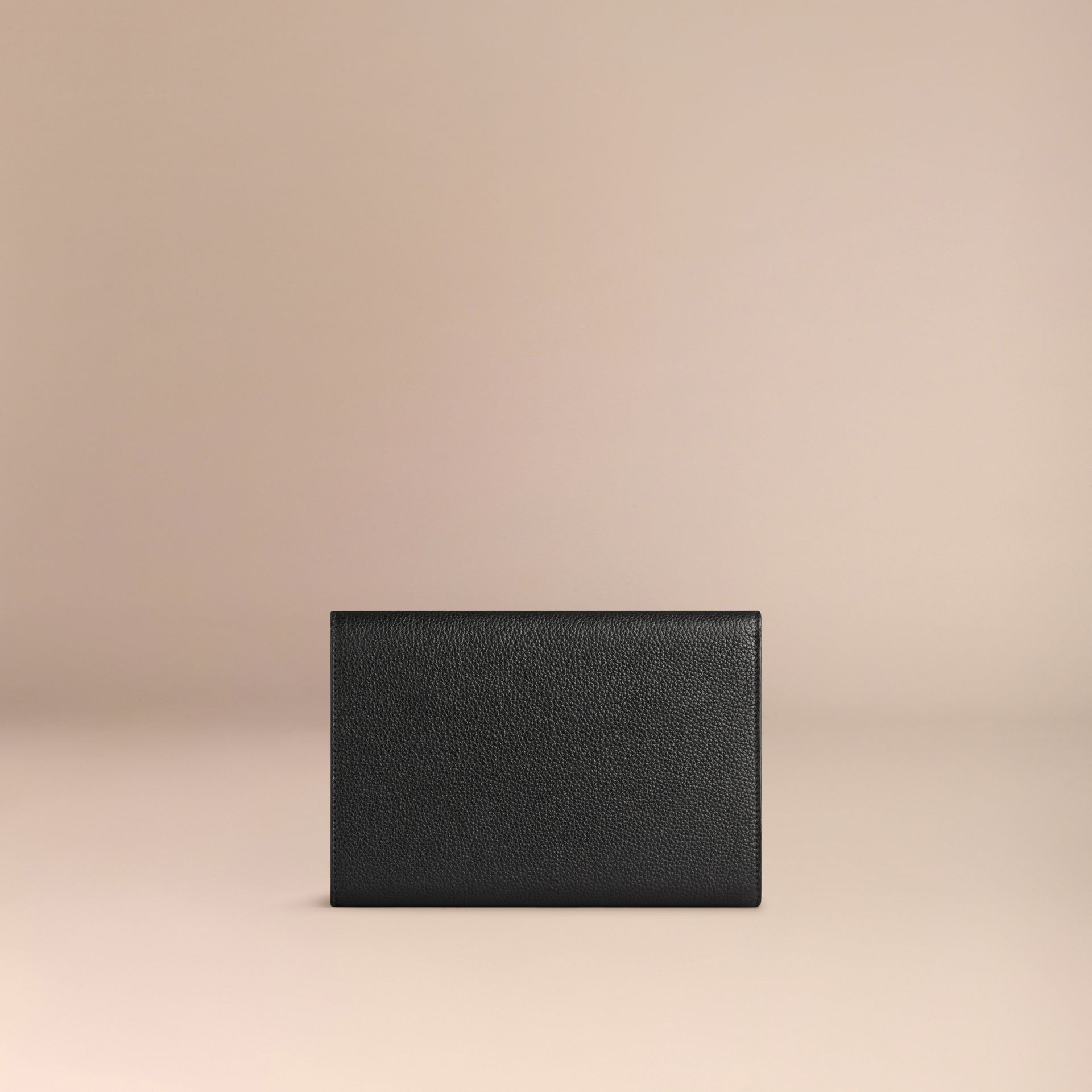 Black Grainy Leather Travel Wallet Black - gallery image 3