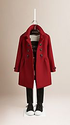 Virgin Wool Cashmere Blend Coat