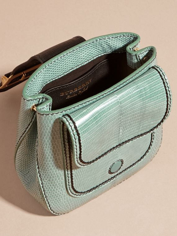 Dusty mint The Small Square Buckle Bag in Lizard - cell image 3