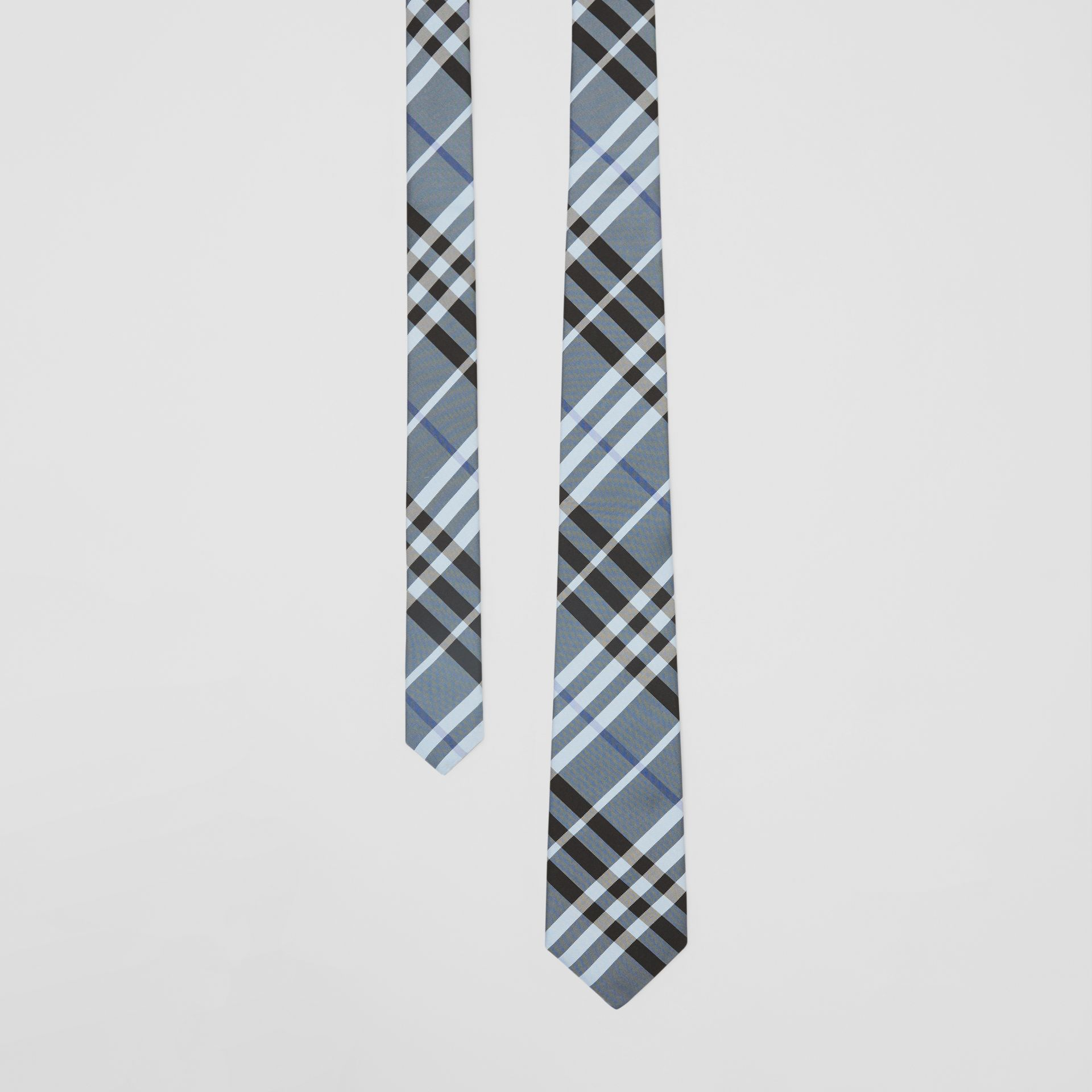 Classic Cut Vintage Check Silk Tie in Light Steel Blue - Men | Burberry - gallery image 0