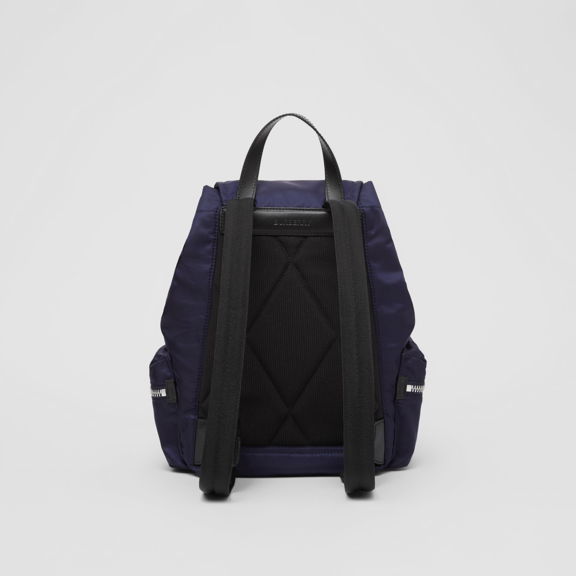 The Medium Rucksack in Logo Print ECONYL® in Navy - Women | Burberry Canada - gallery image 7