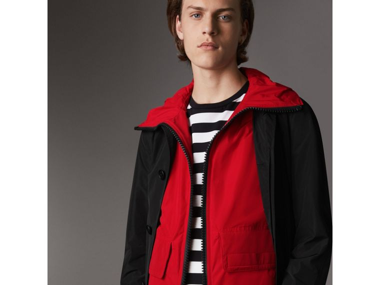 Shape-memory Car Coat with Detachable Sports Gilet - Men | Burberry - cell image 1